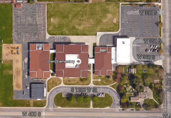 Orem Elementary School Google Earth View
