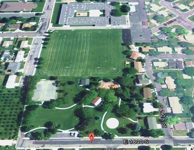 Cherryhill Park - Google Earth View - Orem Utah