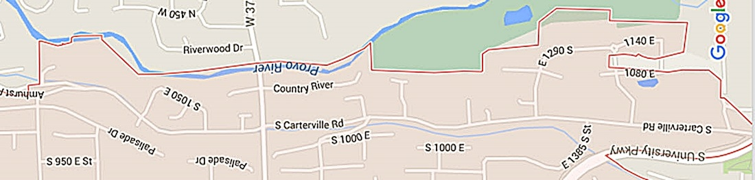 Carterville Neighborhood Map, Orem Utah