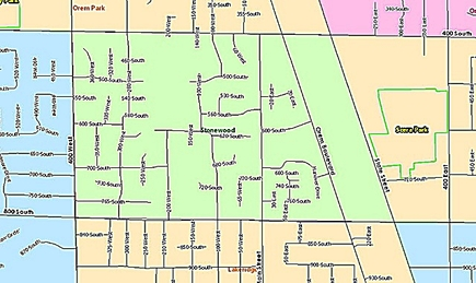 Stonewood Neighborhood Map, Orem Utah