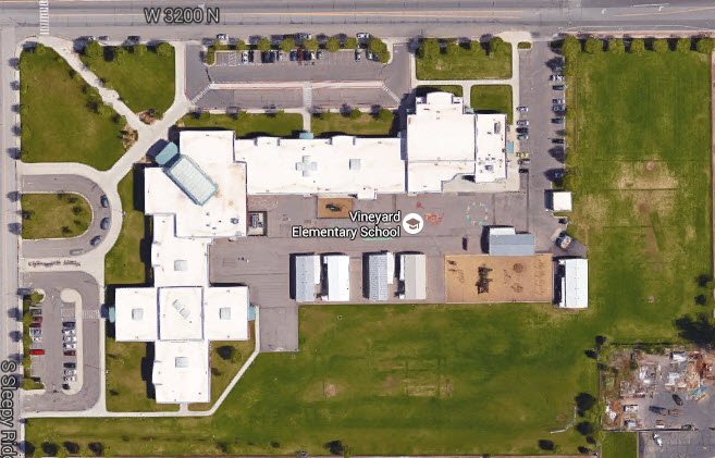 Vineyard Elementary School Orem Utah Google Earth View