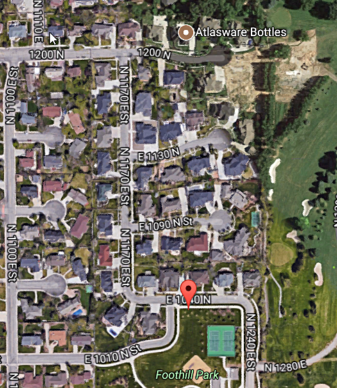 Canyon View Neighborhood Map, Orem Utah